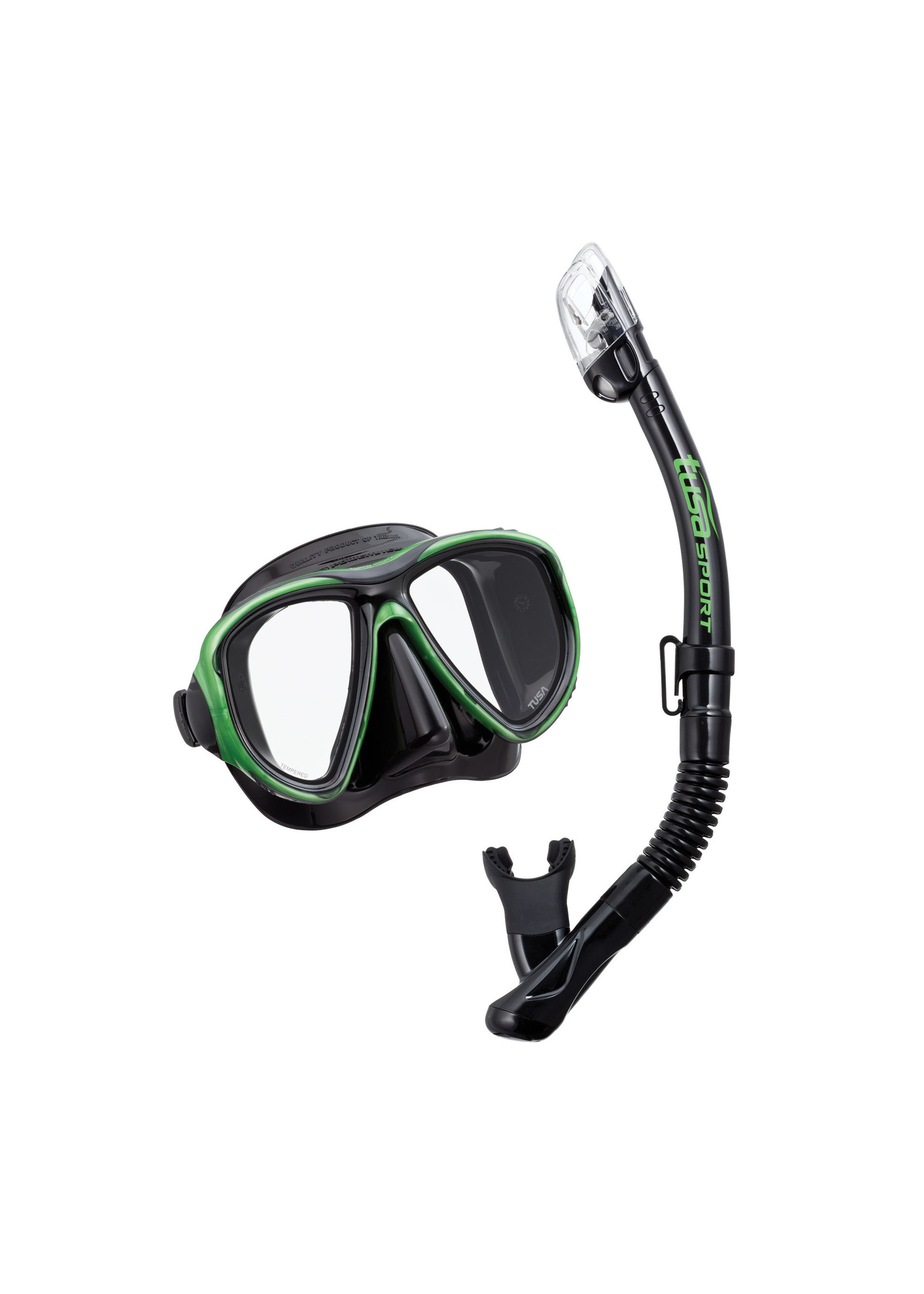 TUSA TUSA Powerview Adult Dry Combo - Black/Siesta Green