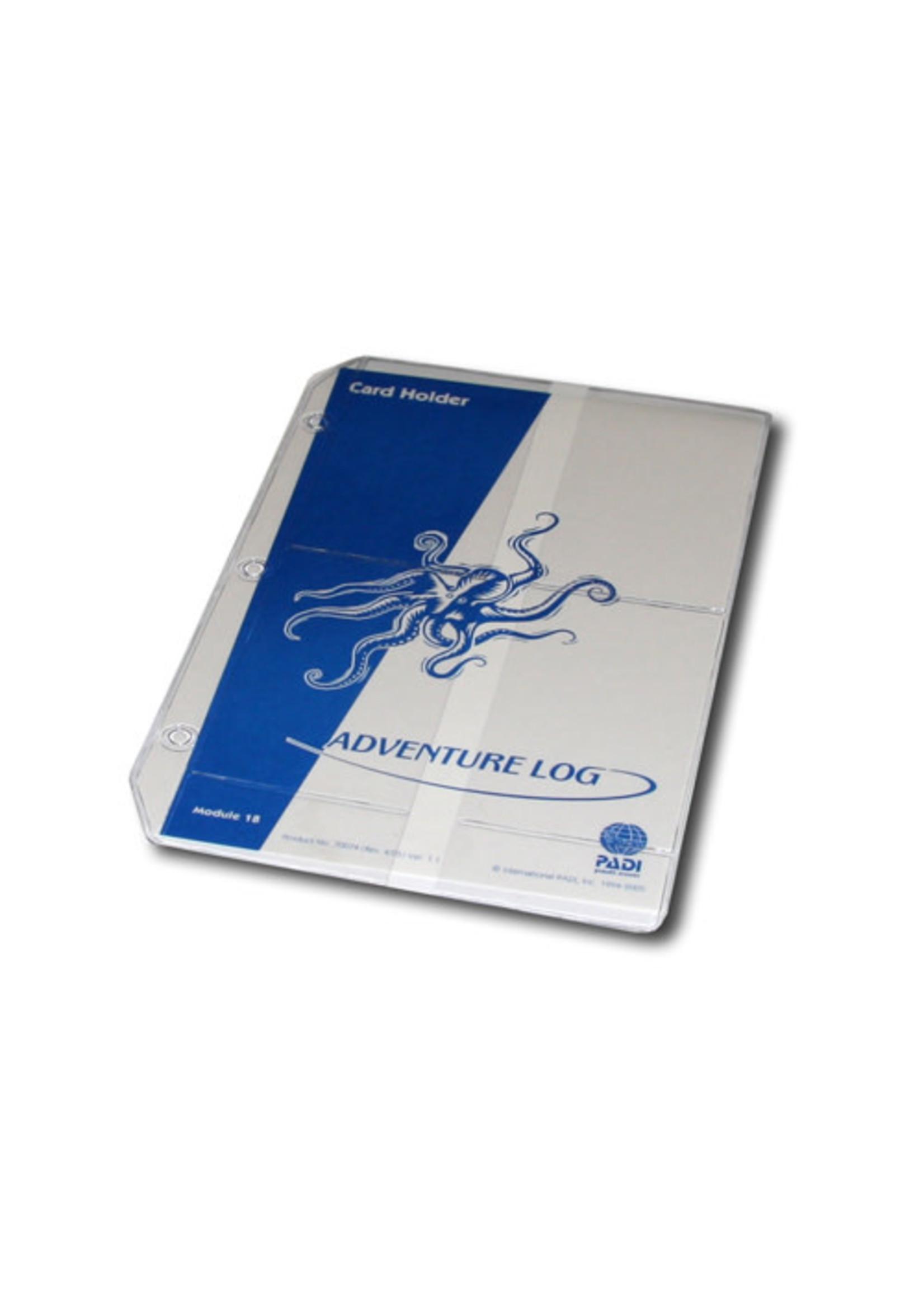 PADI Vinyl Cert. Holders voor in je logboek