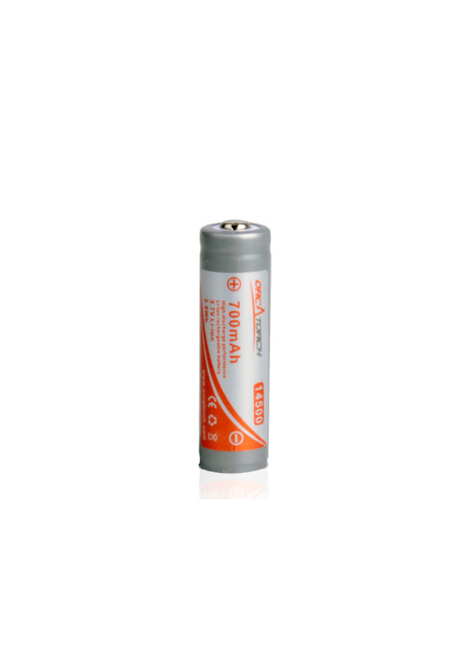 OrcaTorch 14500 Rechargeable Battery