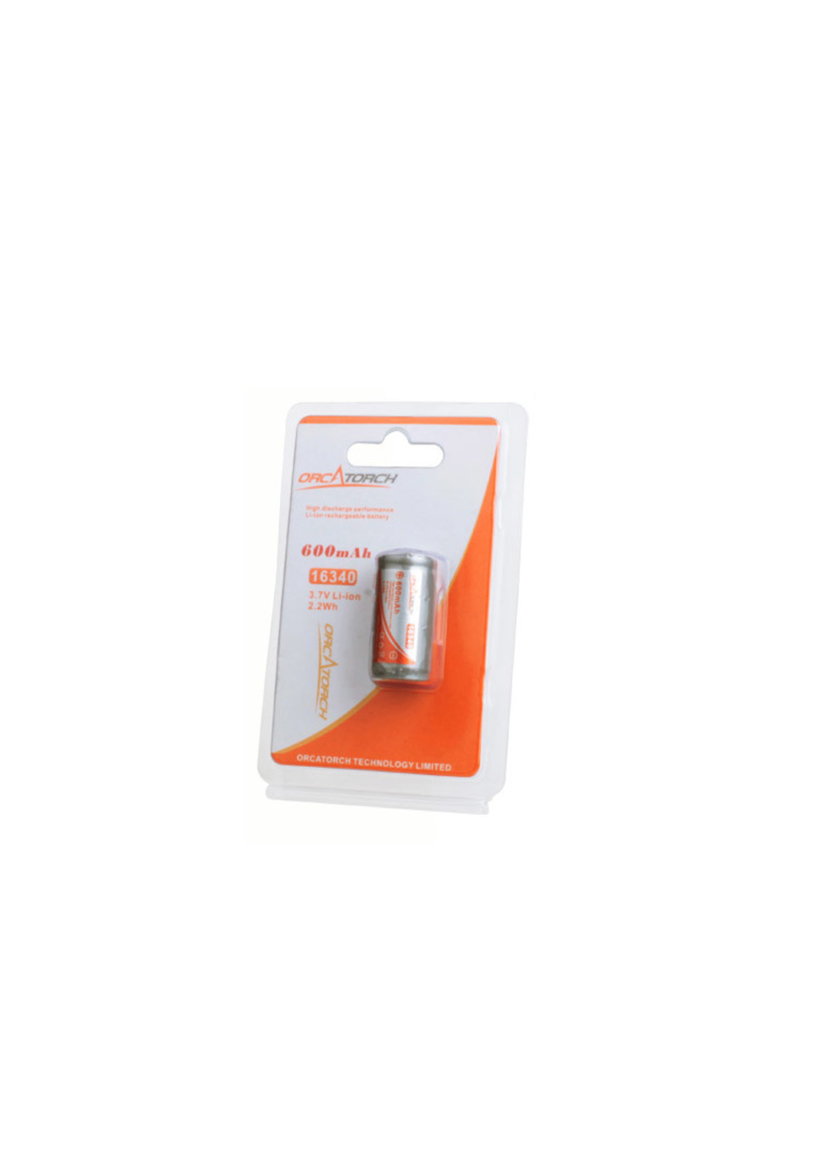OrcaTorch OrcaTorch 16340 Rechargeable Battery