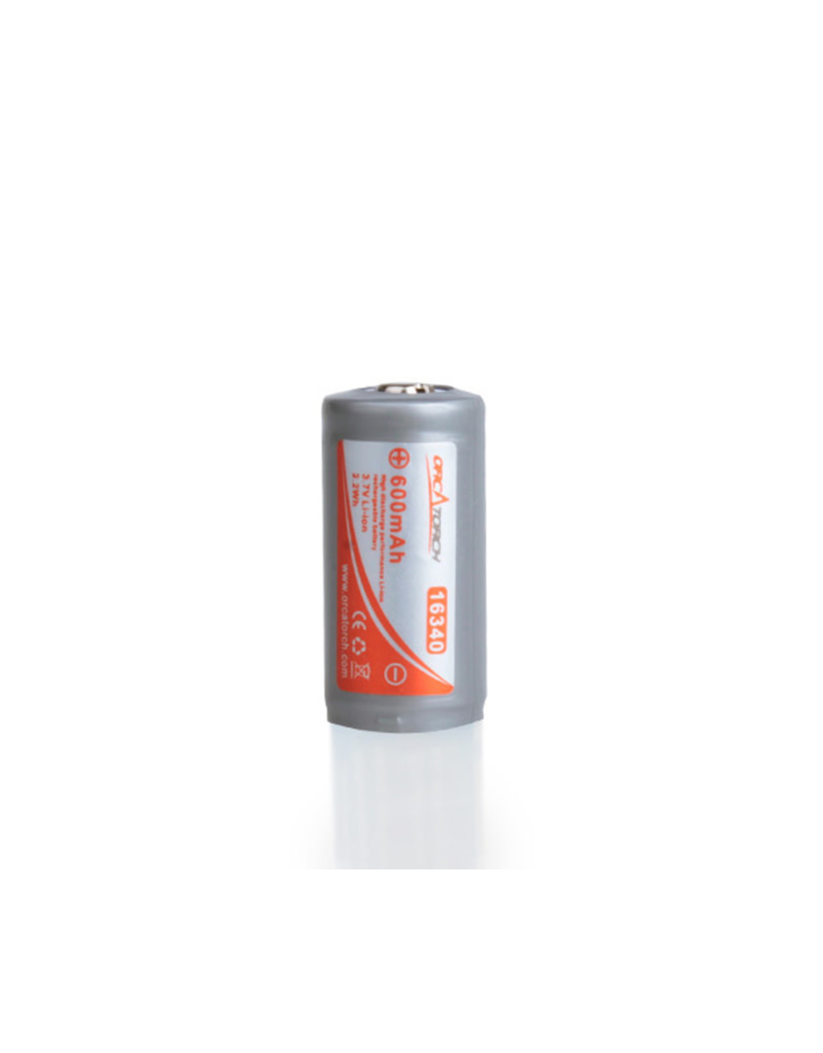 OrcaTorch 16340 Rechargeable Battery