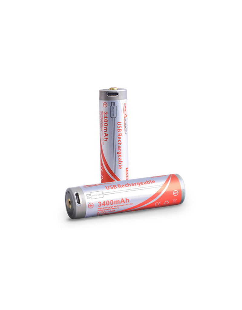 OrcaTorch 18650 USB-Rechargeable Battery