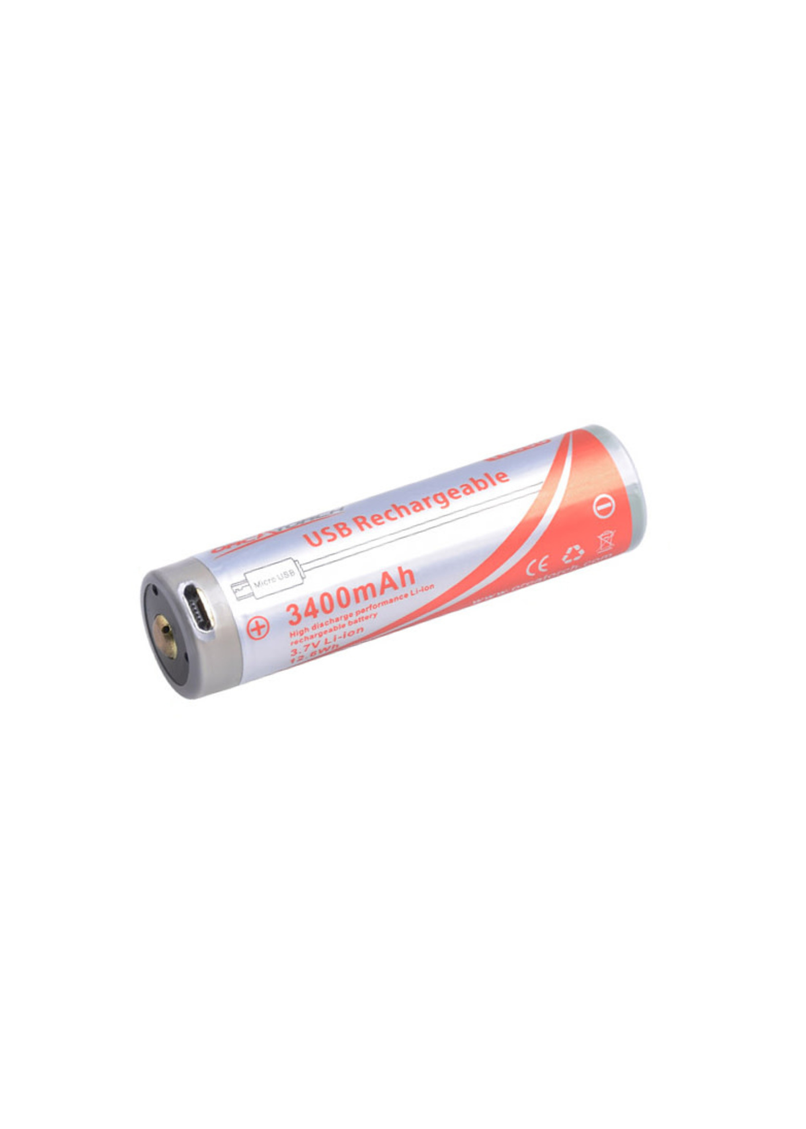 OrcaTorch OrcaTorch 18650 USB-Rechargeable Battery