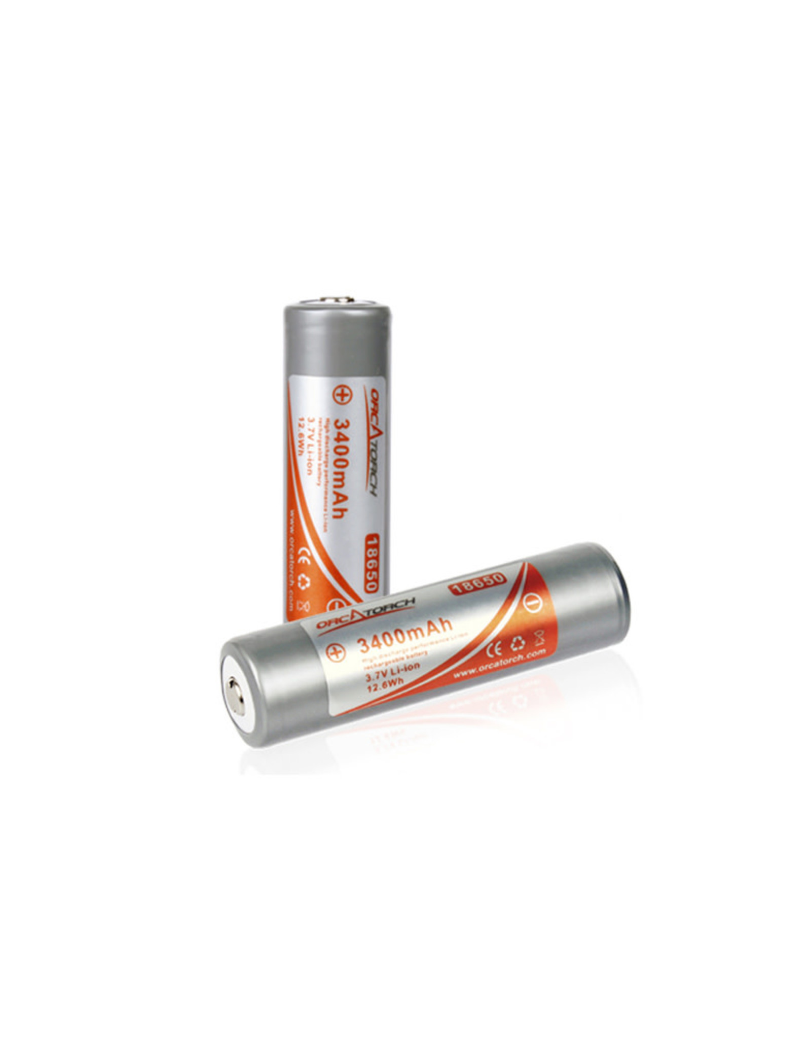 OrcaTorch 18650 Rechargeable Battery