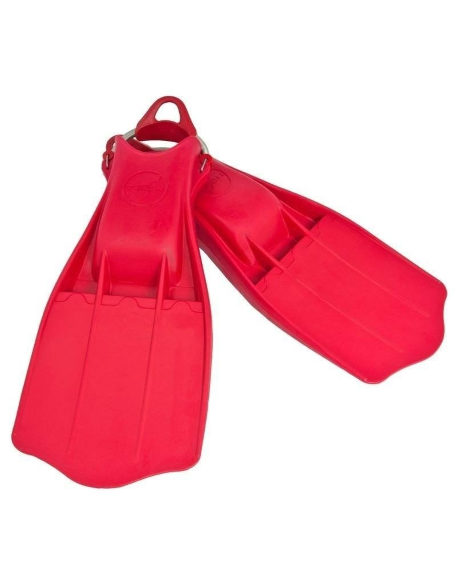 TecLine Tecline Rubber Jetstream Fins - Rood