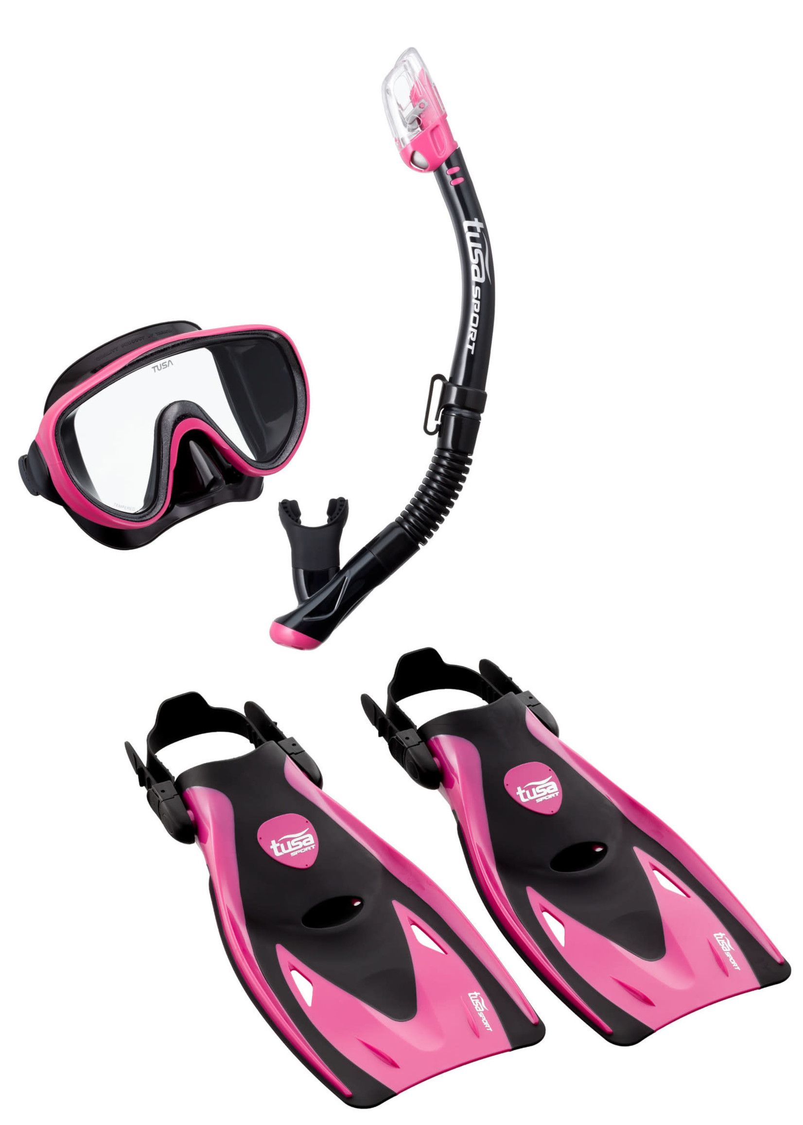 TUSA TUSA Serene Adult Travel Set - Black/Hot Pink