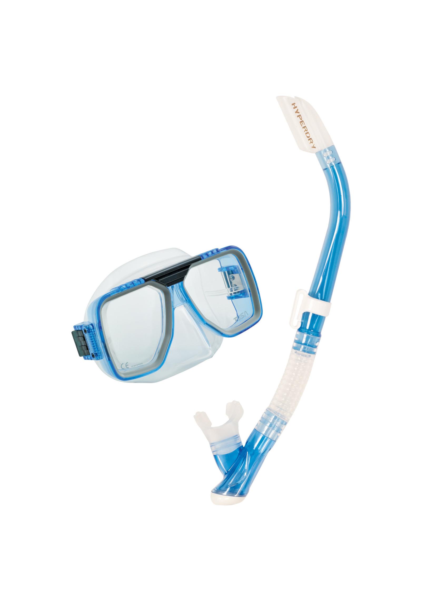 TUSA TUSA Liberator Adult Dry Combo - Clear Light Blue