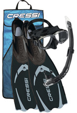 Cressi Cressi Snorkelset PLUMA Bag - Zwart/Zilver