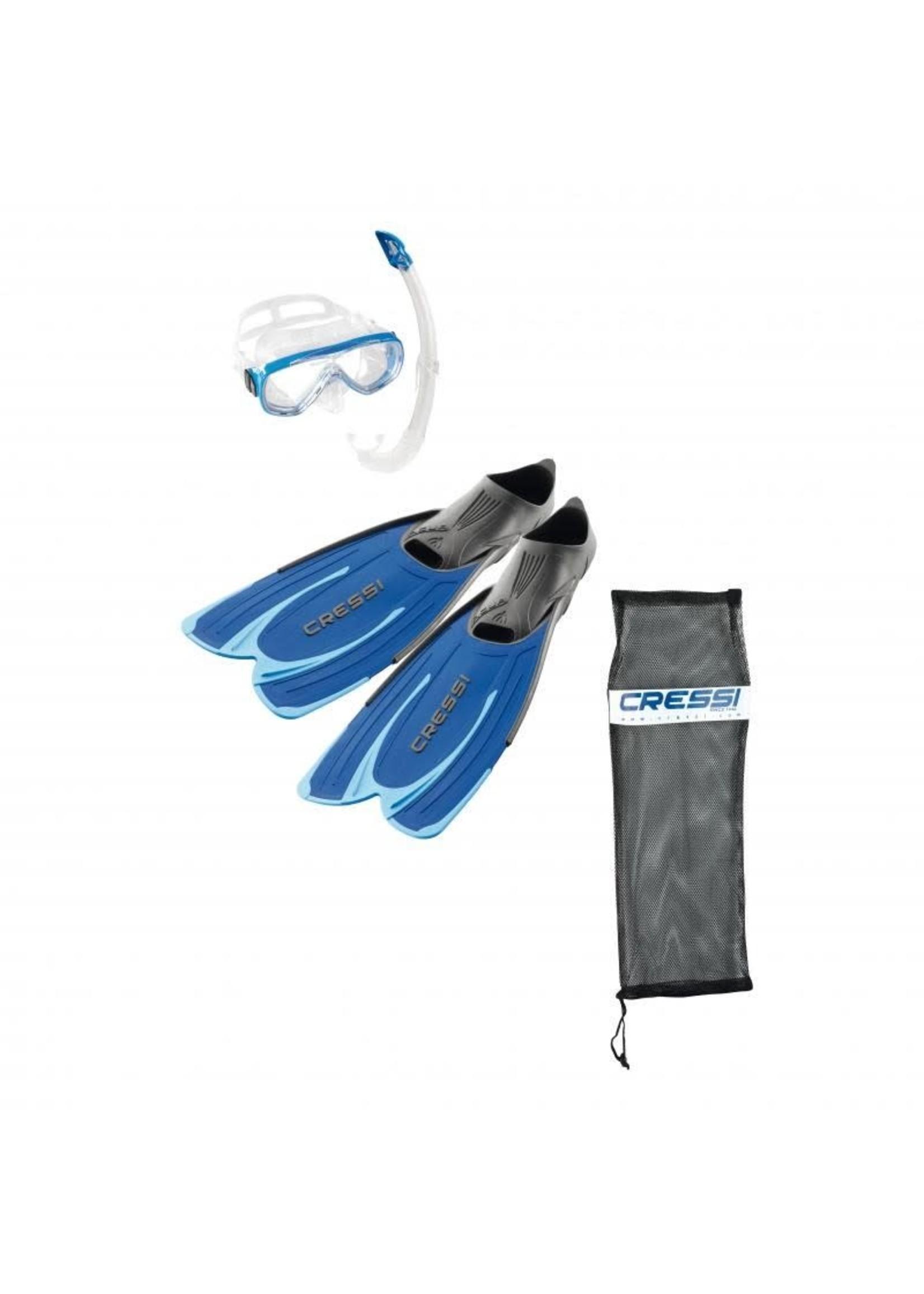 Cressi Cressi snorkelset AGUA Bag - Blauw
