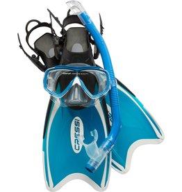 Cressi Cressi Snorkelset Mini PALAU Bag - Blauw/Azure