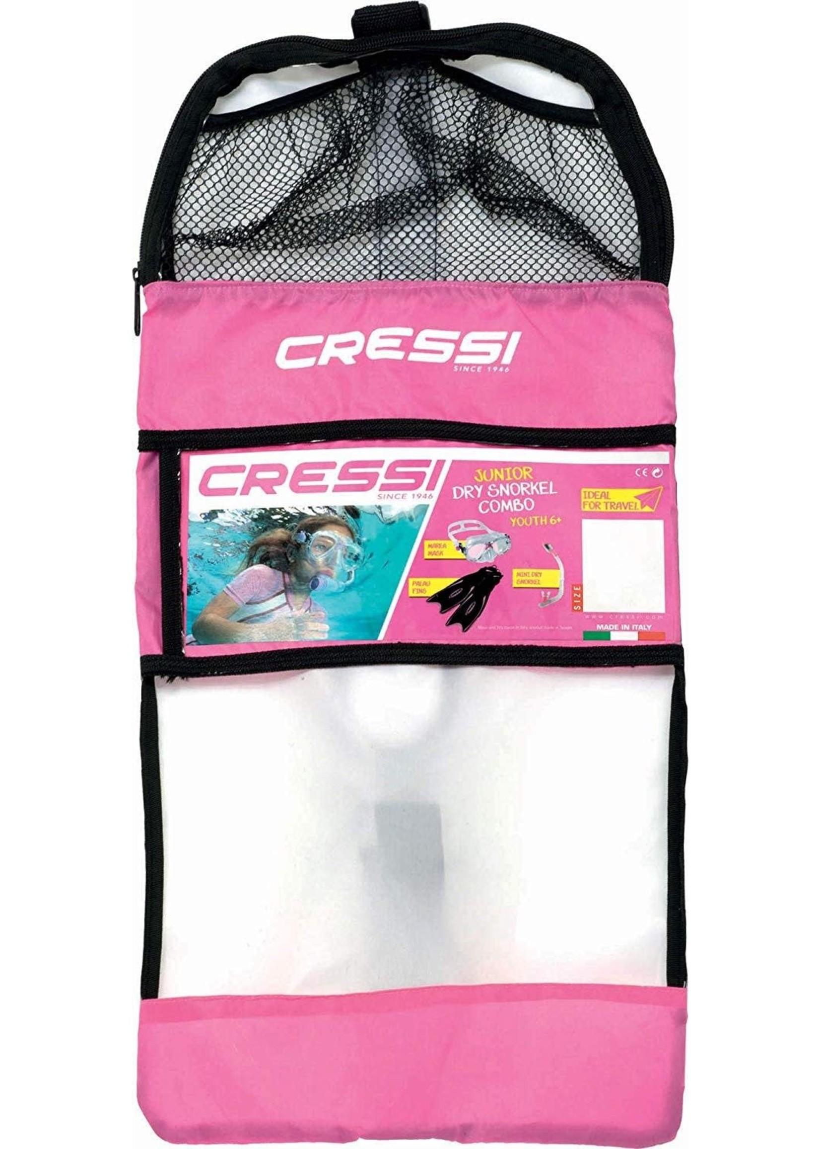 Cressi Cressi Snorkelset Mini PALAU Bag - Helder/Roze