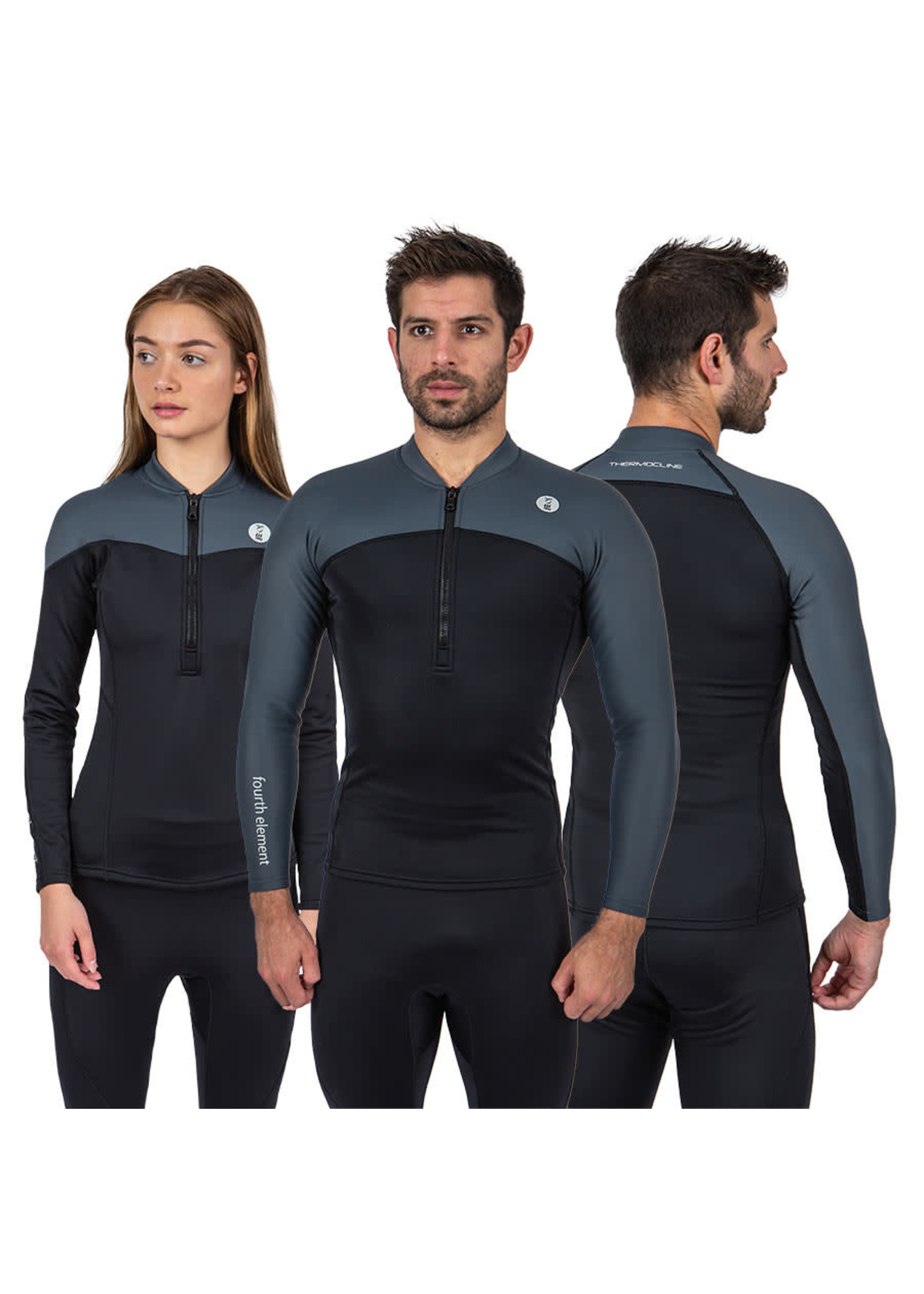 Fourth Element Fourth Element Thermocline Long Sleeve Top Front zip - vrouw