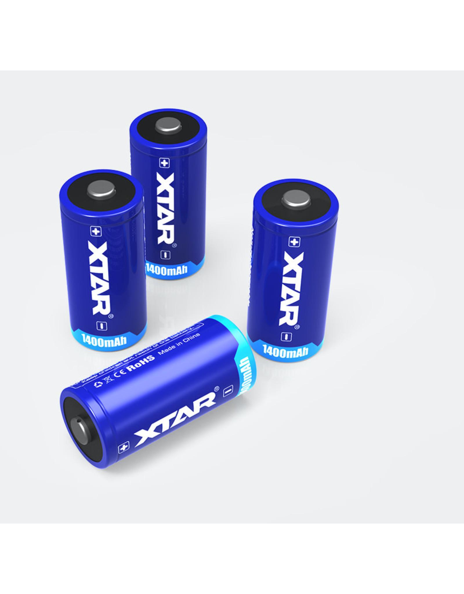 Xtar Xtar cr123 batterijen 1400mAh set van 2