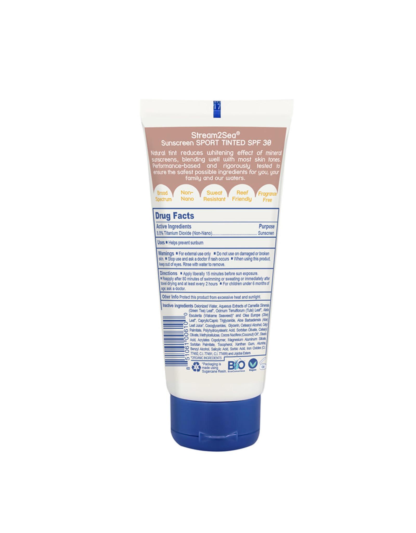 Stream2Sea Stream2Sea Eco Tinted Sunscreen Sport Spf30 3oz/90ml