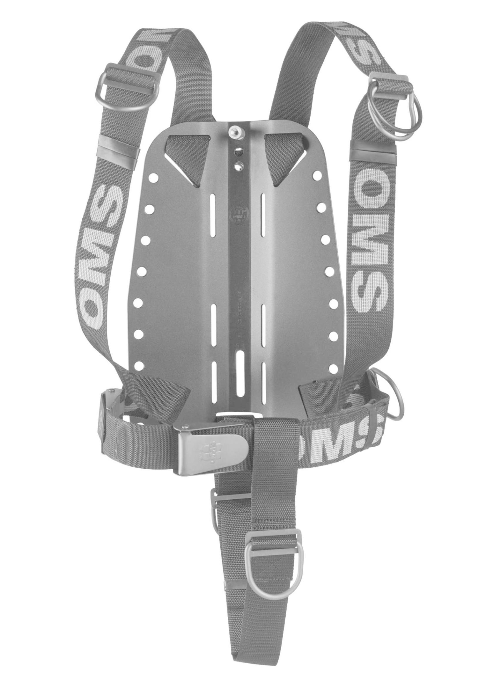 OMS OMS AL backplate met SmartStream Harness en Crotch Strap