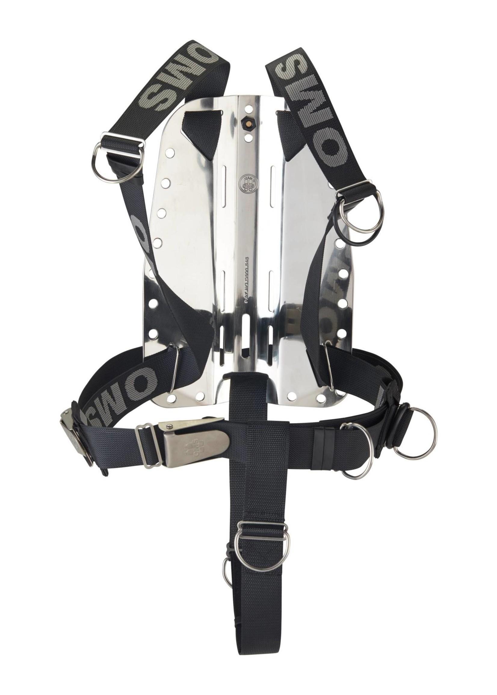 OMS OMS SS backplate met SmartStream Harness en Crotch Strap