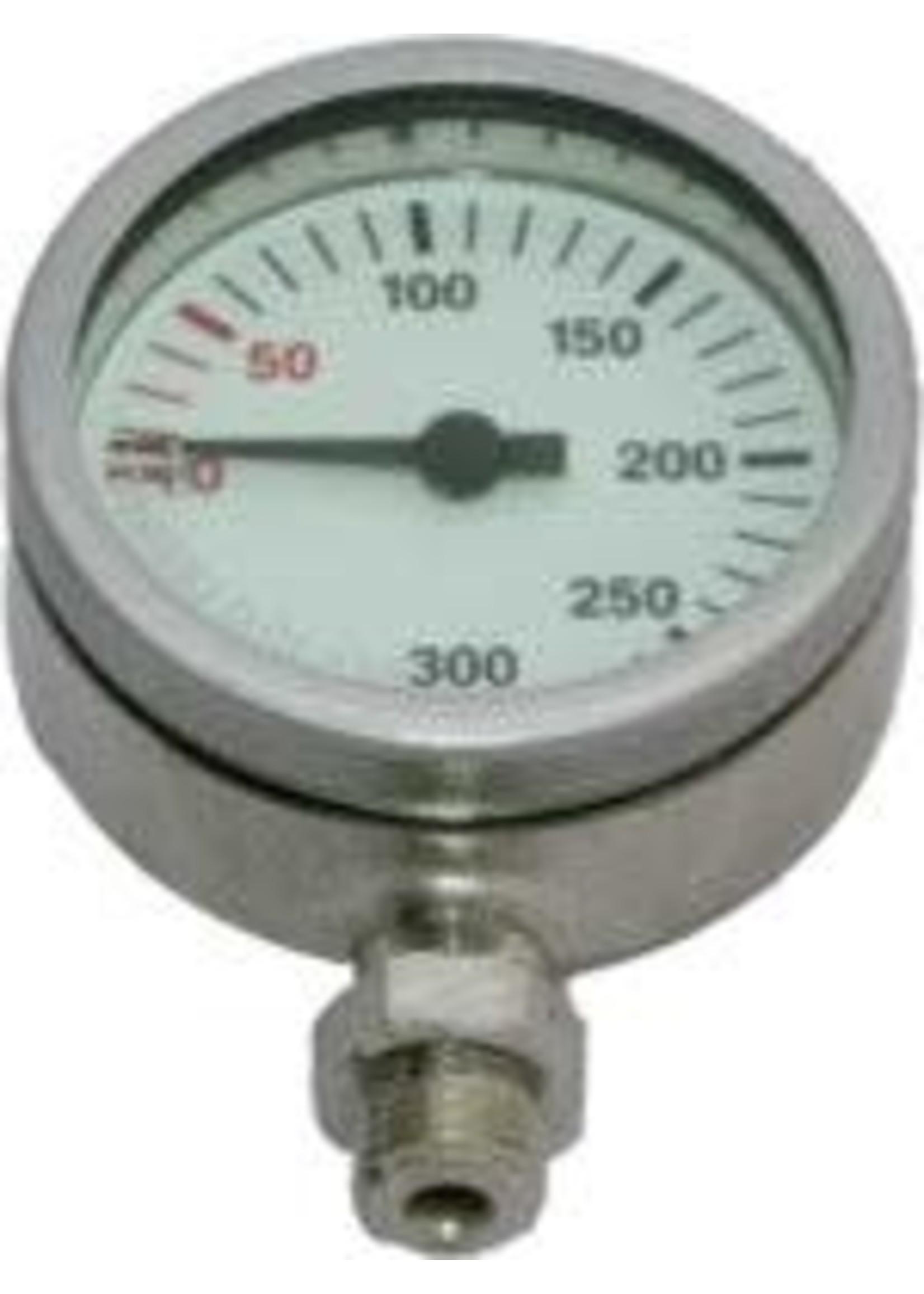 Manometer RVS behuizing - bar