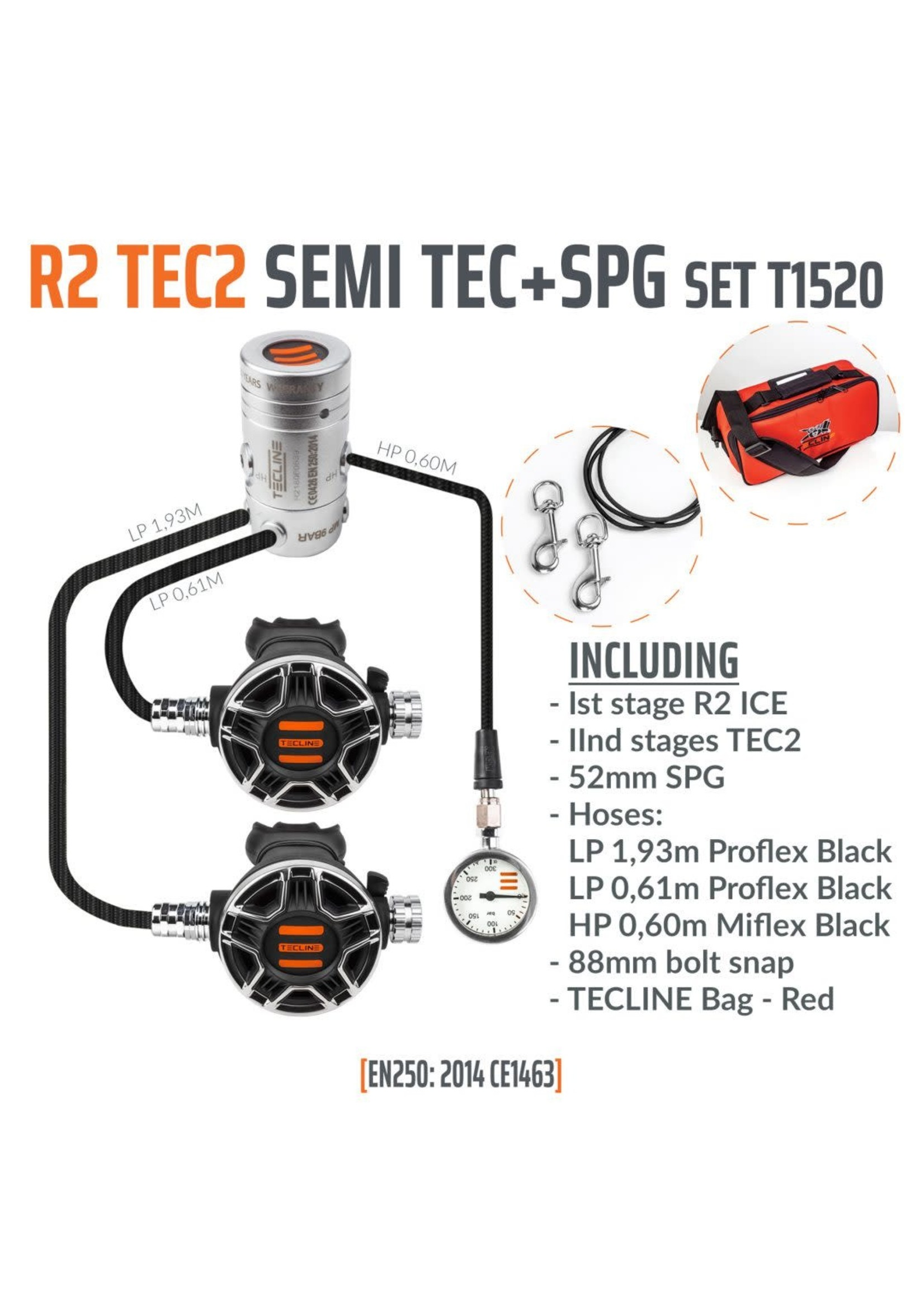 TecLine Tecline R2  TEC2 Semi TEC + Mano set