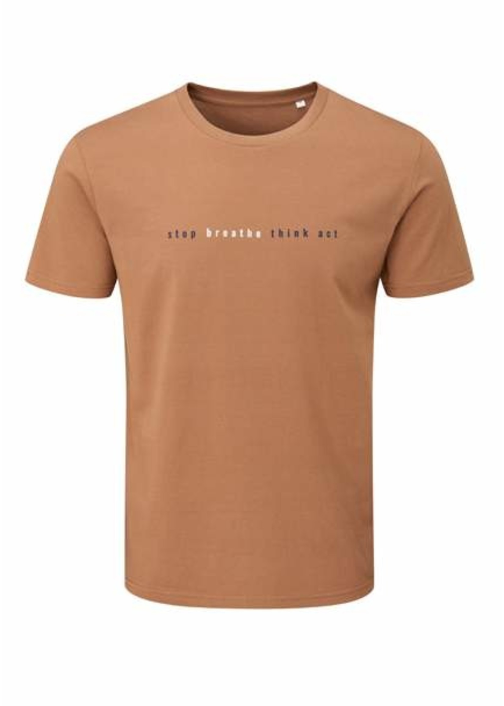 Fourth Element Fourth Element Stop Breathe Brown T-Shirt - man