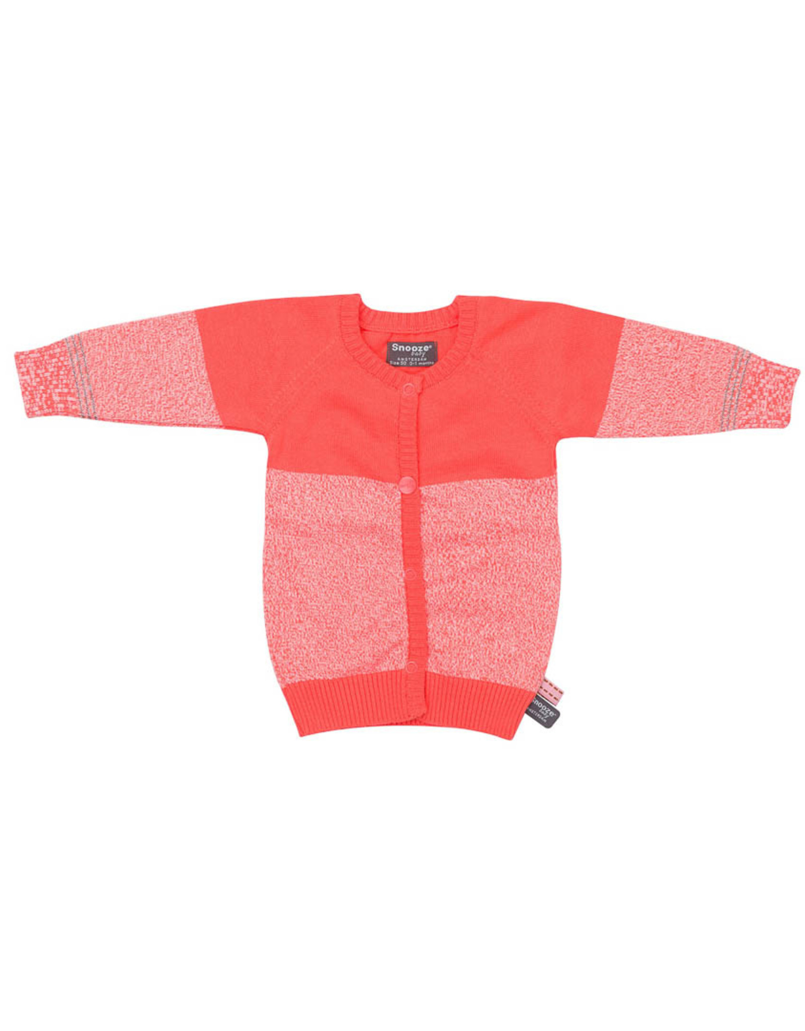 Snoozebaby Cardigan Knitted Coral Red