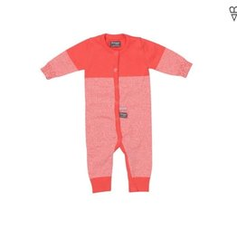 Snoozebaby Suit Knitted Coral Red