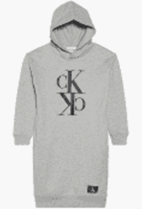 Calvin Klein Midi Monogram Hoodie Dress