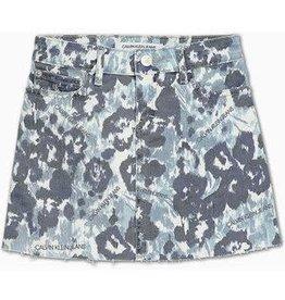 Calvin Klein A-Line Skirt Waterflower Blue Comfort