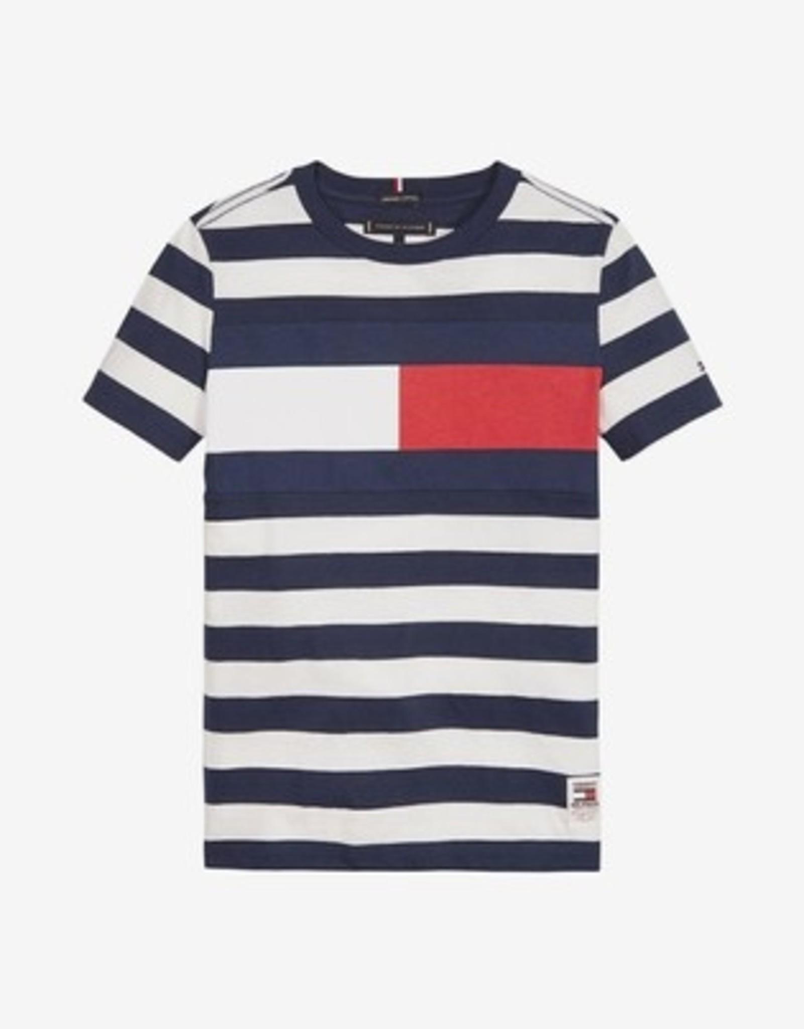 Tommy Hilfiger Cut & Sew Stripe Tee, 0A4