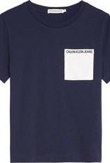 Calvin Klein Contrast Pocket SS Top