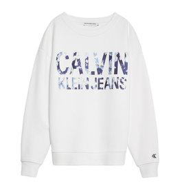 Calvin Klein Floral Logo Oversized Sweatshirt