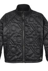Calvin Klein Monogram Quilted Bomber Jacket