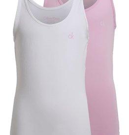 Calvin Klein 2PK Cami White/Pink