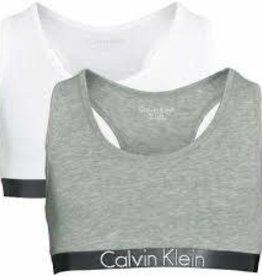 Calvin Klein 2PK Bralette White/Grey