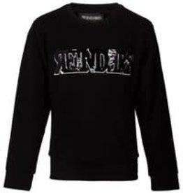 Reinders Sweater Wording Sequins Zwart