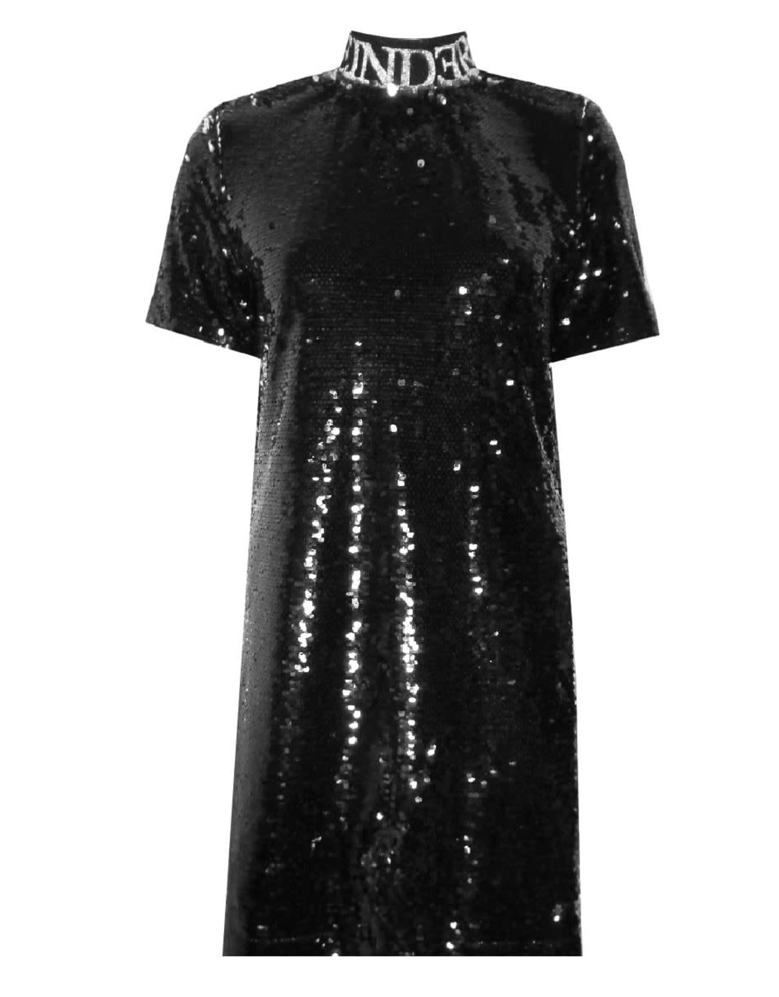Reinders Turtleneck Dress Sequins Zwart