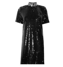 Reinders Turtleneck Dress Sequins Zwart