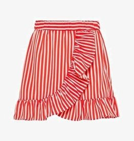 LMTD NLF KAYA SKIRT POPPY Red/White