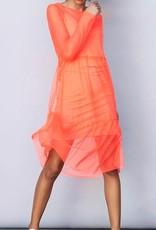 LMTD NLFHarissa LS Dress Fiery Coral