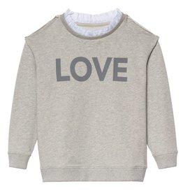 Little 10 Days Sweater Ruffles Light Grey