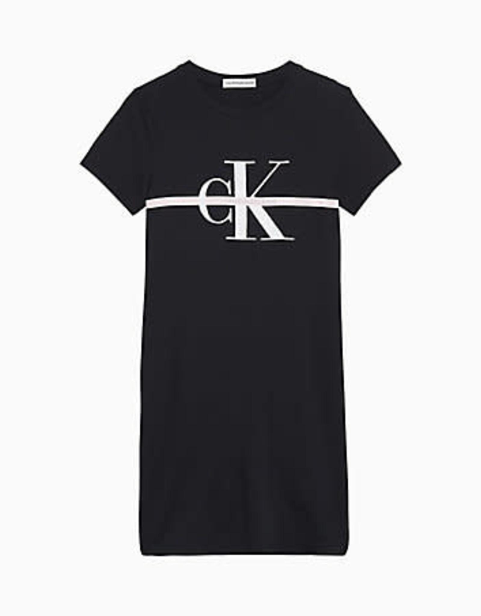 Calvin Klein Monogram Stripe SS T-Shirt Dress