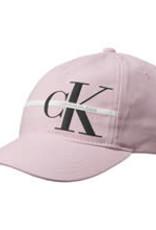 Calvin Klein Monogram Stripe cap pink