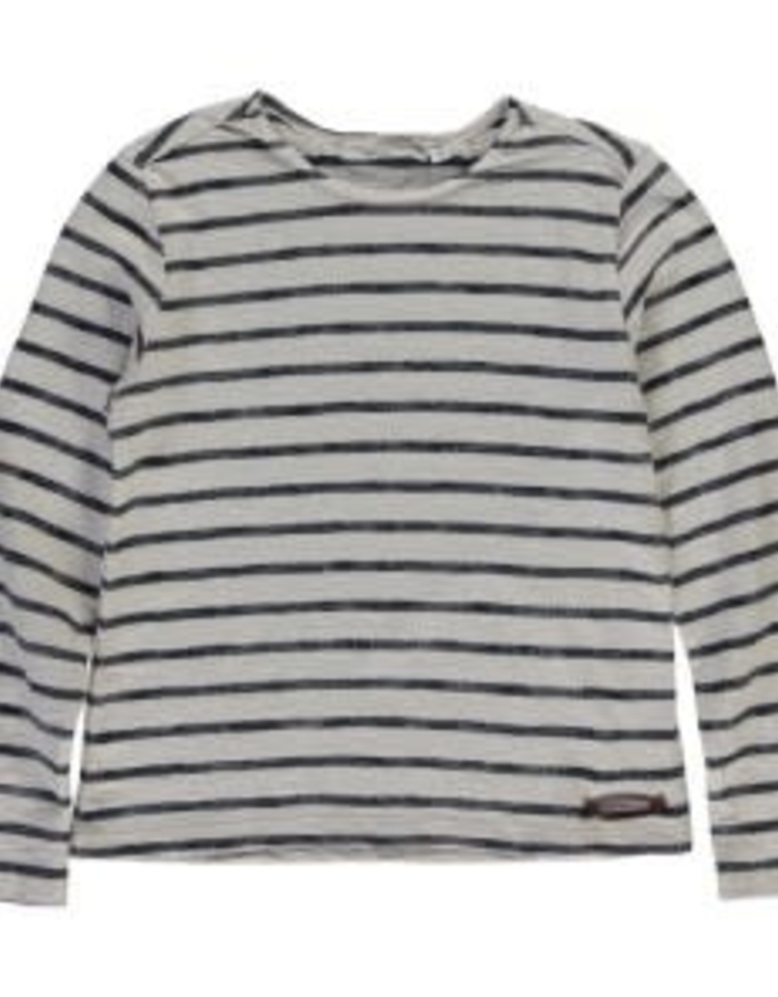 Moscow Top Striped Cotton Jersey Whisper White/Ink Blue