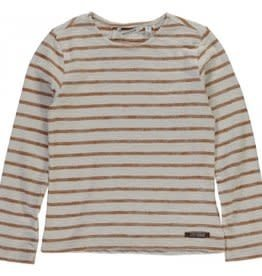 Moscow Top Striped Cotton Jersey Whisper White/Bronze mt 140