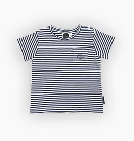 Sproet & Sprout T-Shirt Basic Navy Stripes Blue/White mt 50-56