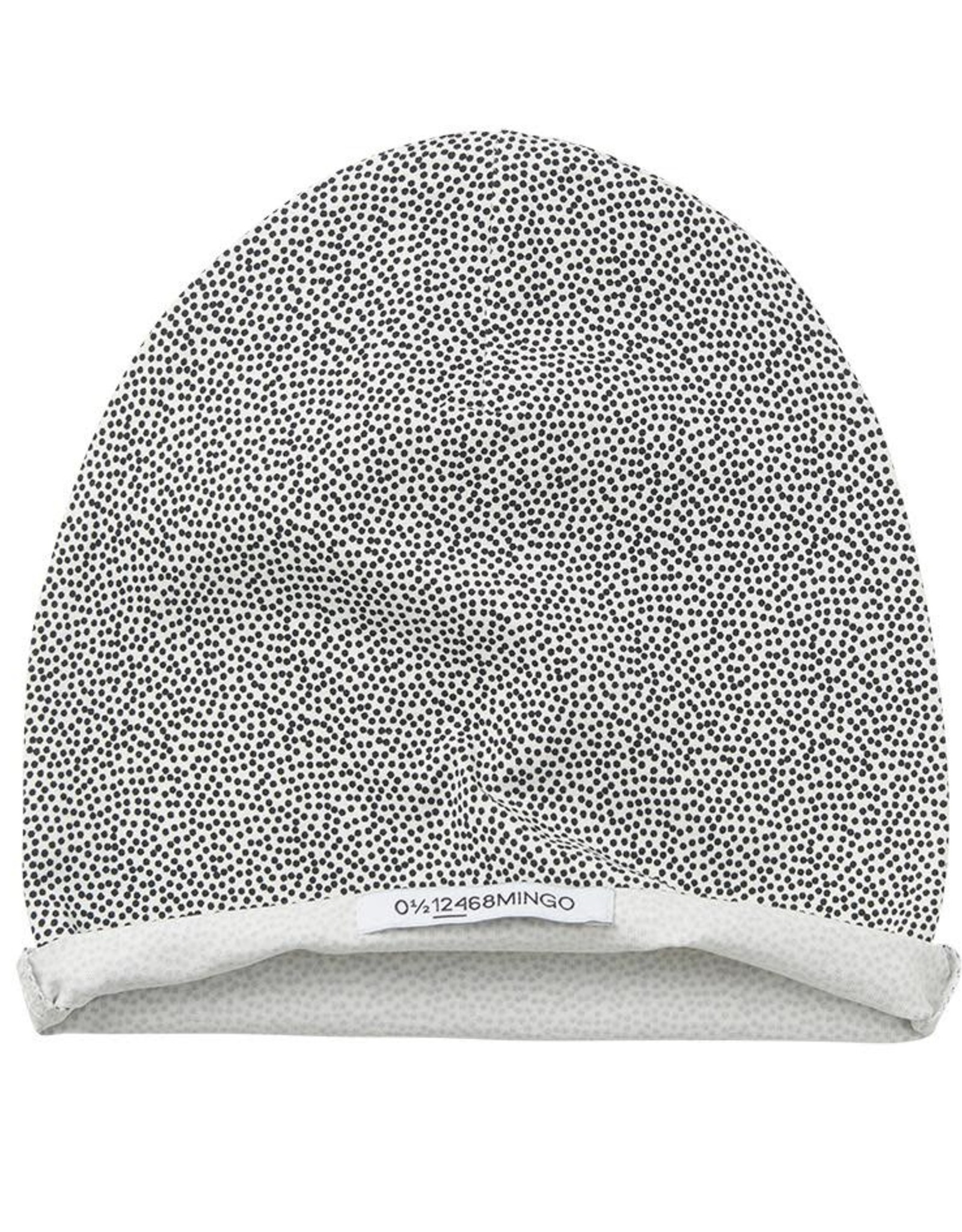 Mingo Beanie Dots  Black/Off White mt 50