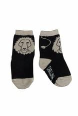 CarlijnQ Knee Socks A Lions Head Black/Sand mt 0-1 jr