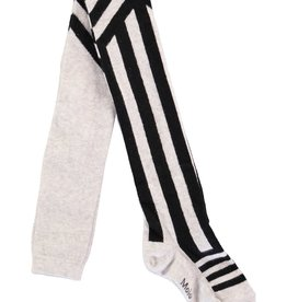 Molo Graphic Striped Tights Snow Melange mt 62-68