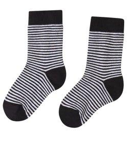 Mingo Sokken Zwart/Wit gestreept mt 23-26