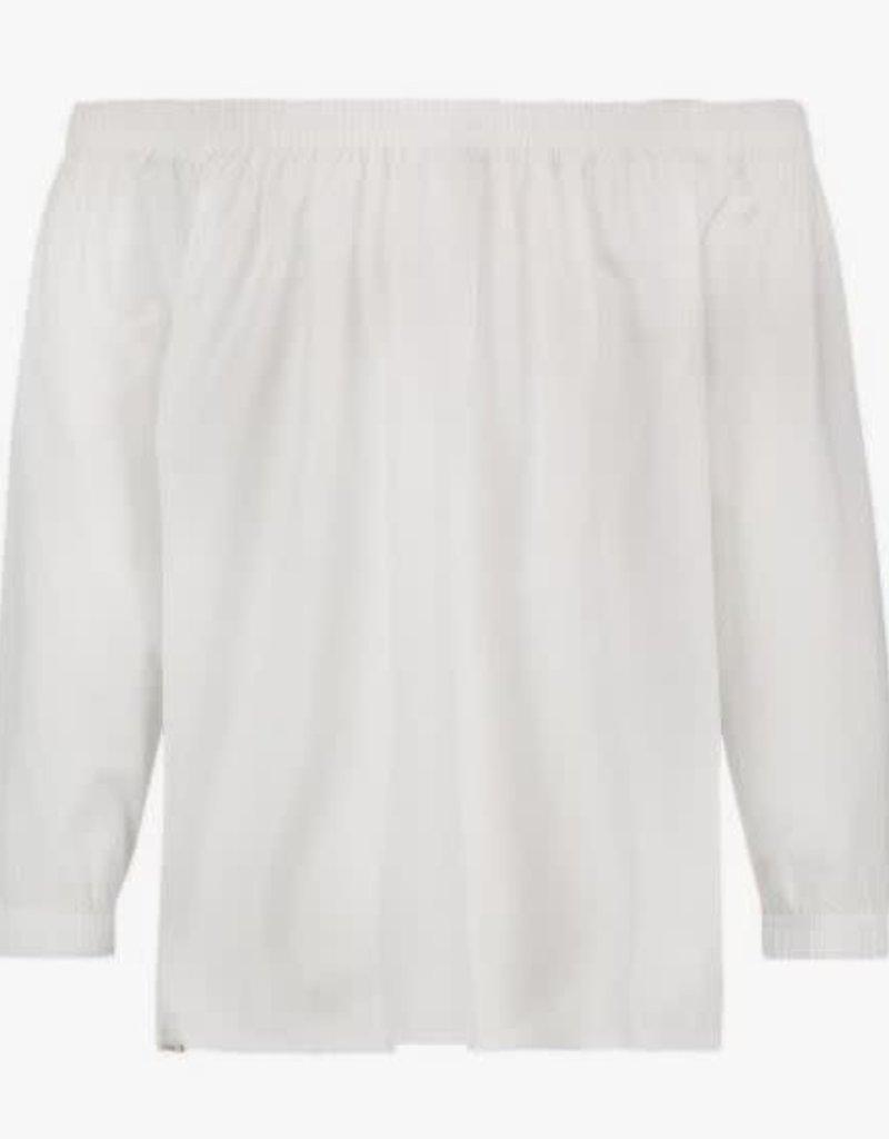 Penn & Ink N.Y. Blouse Off Shoulder White mt 16