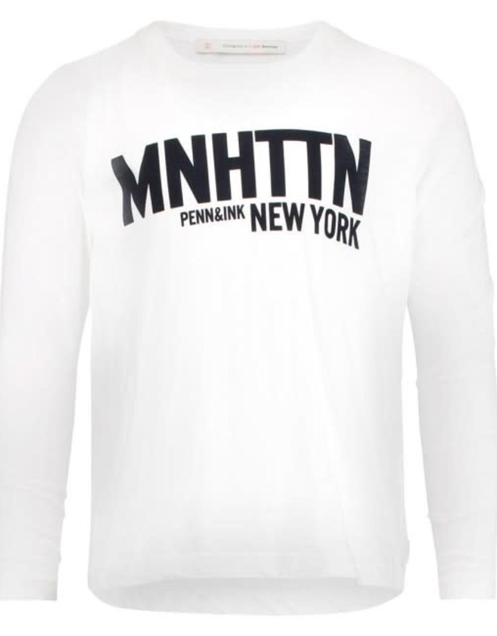 Penn & Ink N.Y. Longsleeve MNHTTN White/Navy mt 6